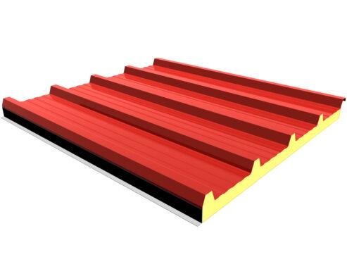 panel cubierta ganadero 5 grecas 3d