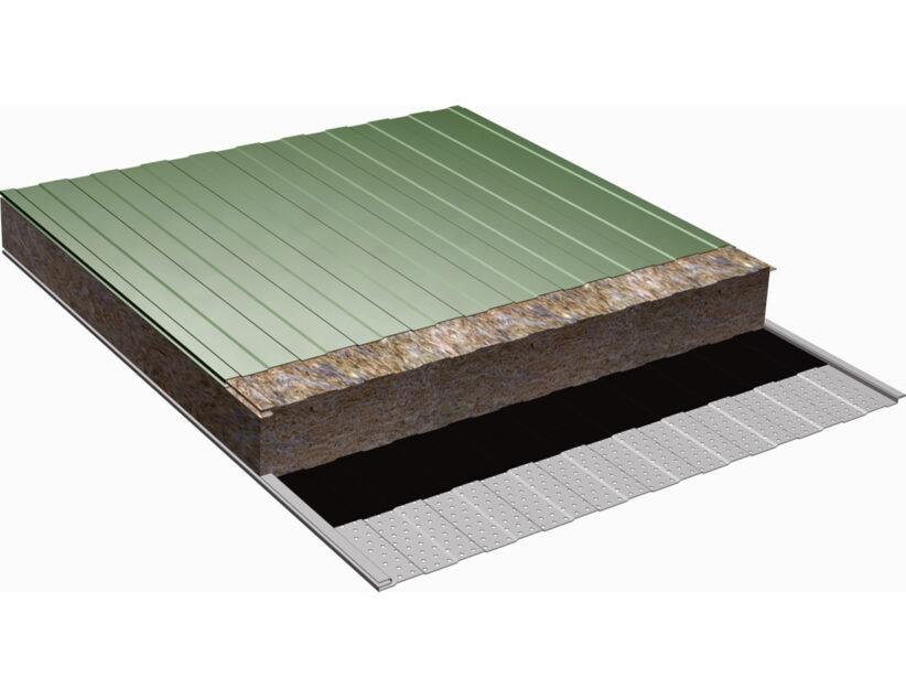 panel fachada lana de roca acustico 3d
