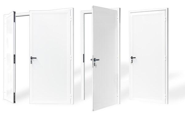 puerta aluminio 1 2 hojas serie 7009 e 40