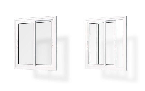ventana corredera alumnio 2 hojas serie 7009 e47