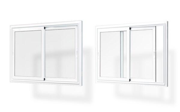 ventana corredera alumnio 2 hojas serie 7009 e65