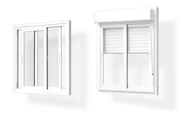 ventana corredera pvc 2 hojas serie 7009