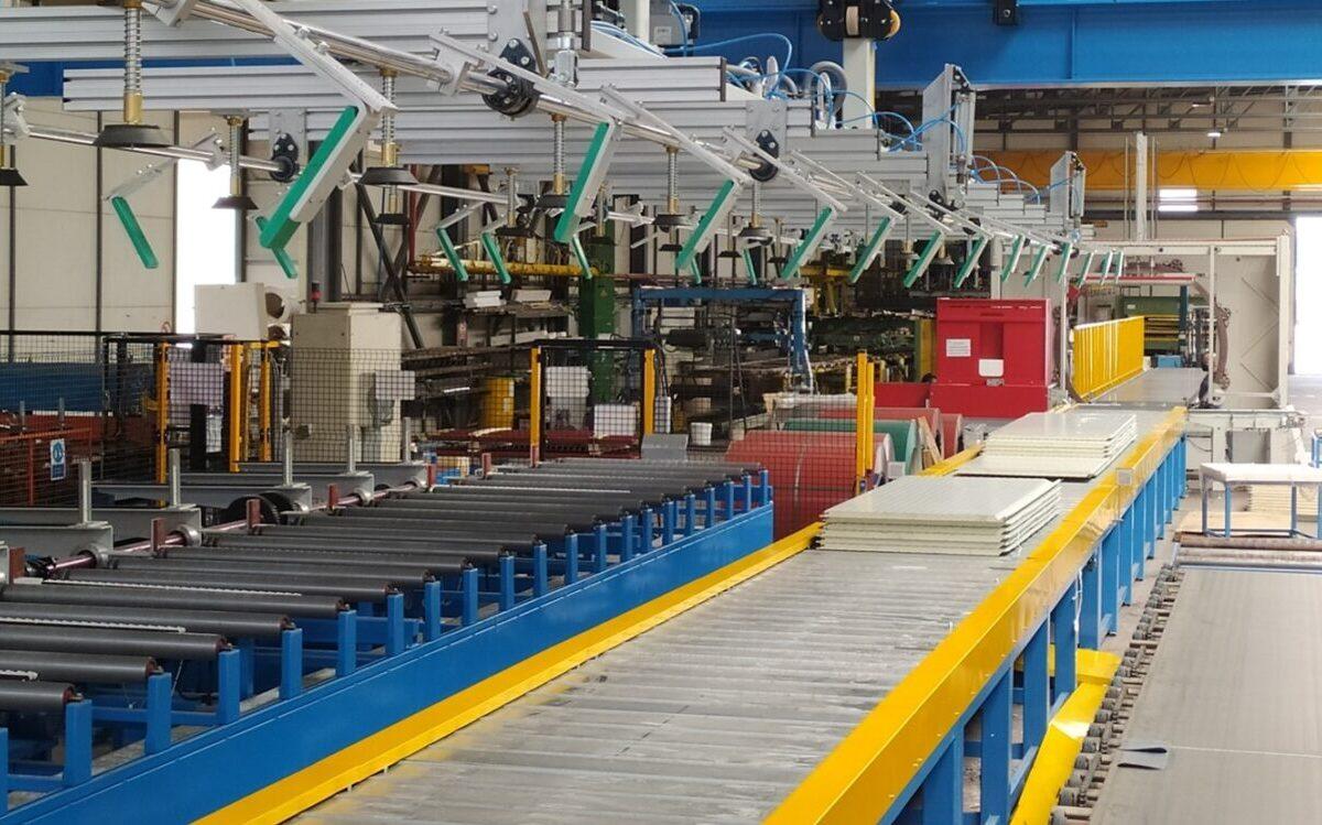 embaladora paneles sándwich nueva línea de fabricación continua de Paneles Sándwich